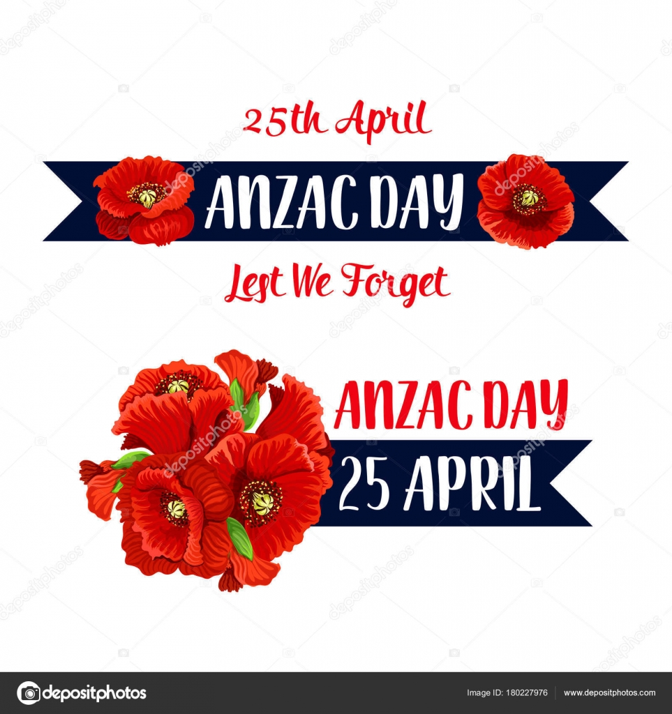 Anzac day 25 april poppy bunch vector icon stock vector anzac day poppy bunch icon for war commemorative day of australia and new zealand soldiers and veterans vector red flowers symbol for freedom and peace war biocorpaavc Images