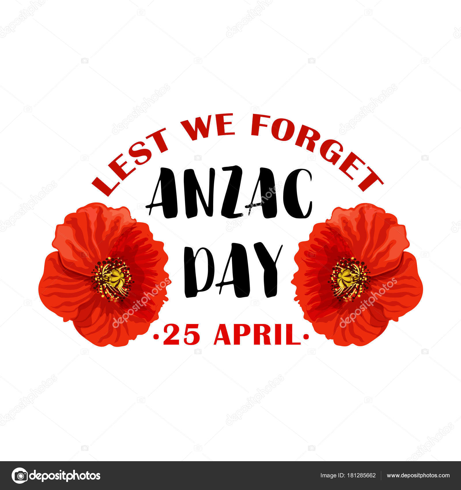 Red poppy flower symbol of anzac remembrance day stock vector red poppy flower symbol for anzac day remembrance day of australian and new zealand army corps or world war soldier campaign anniversary floral card design biocorpaavc Images