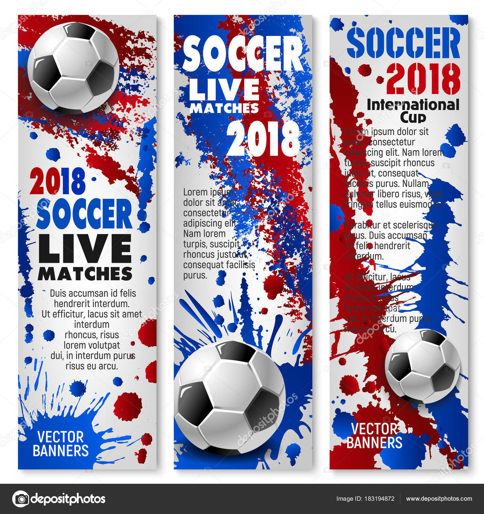 Soccer Ball Sporting Competition Event Invitation Flyer Template With Paint Splashes And Spot For Football Team Sport Club Design Vector By Seamartini