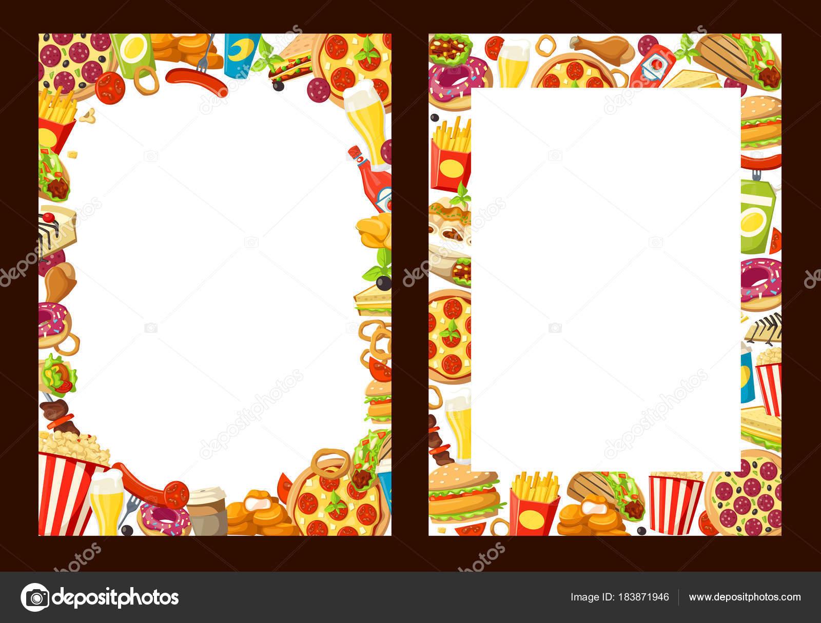 Vektor-Fast-Food-Menü-Vorlagen — Stockvektor © Seamartini #183871946