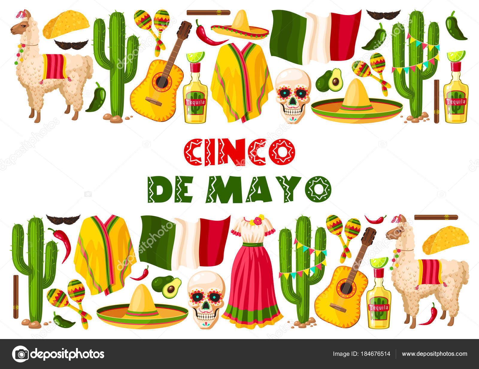 Cinco de mayo holiday mexican vector greeting card stock vector cinco de mayo greeting card for mexican holiday celebration of jalapeno pepper sombrero and tequila vector traditional design for mexico national holiday m4hsunfo
