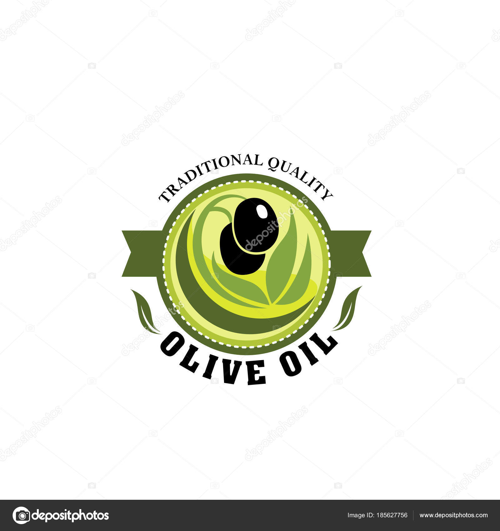 Badge for olive oil production plant — Stock Vector
