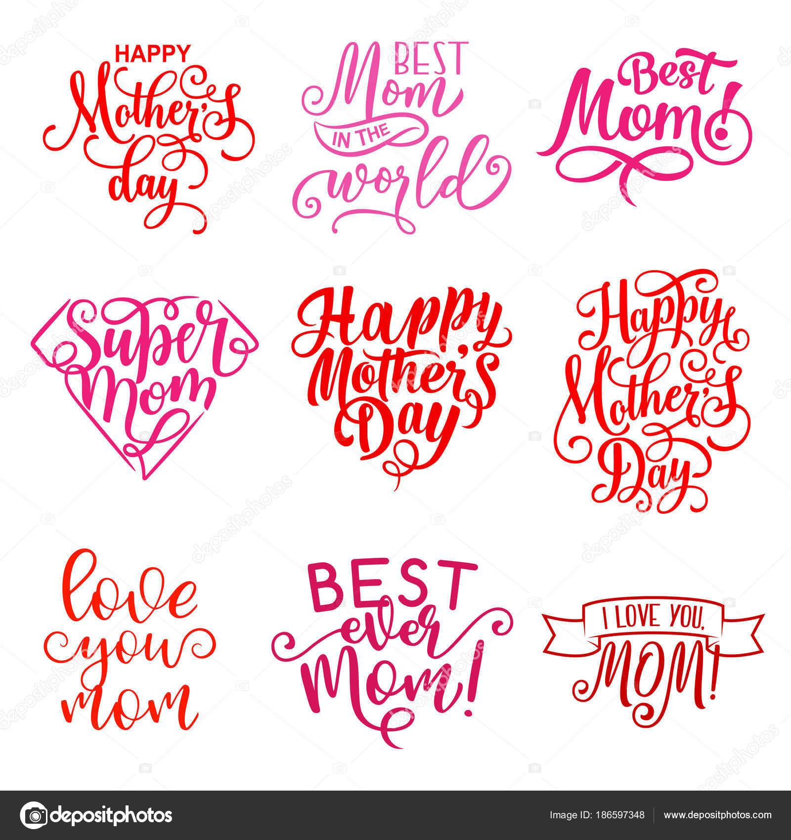 Vector mother day holiday greeting text icons stock vector vector mother day holiday greeting text icons stock vector m4hsunfo