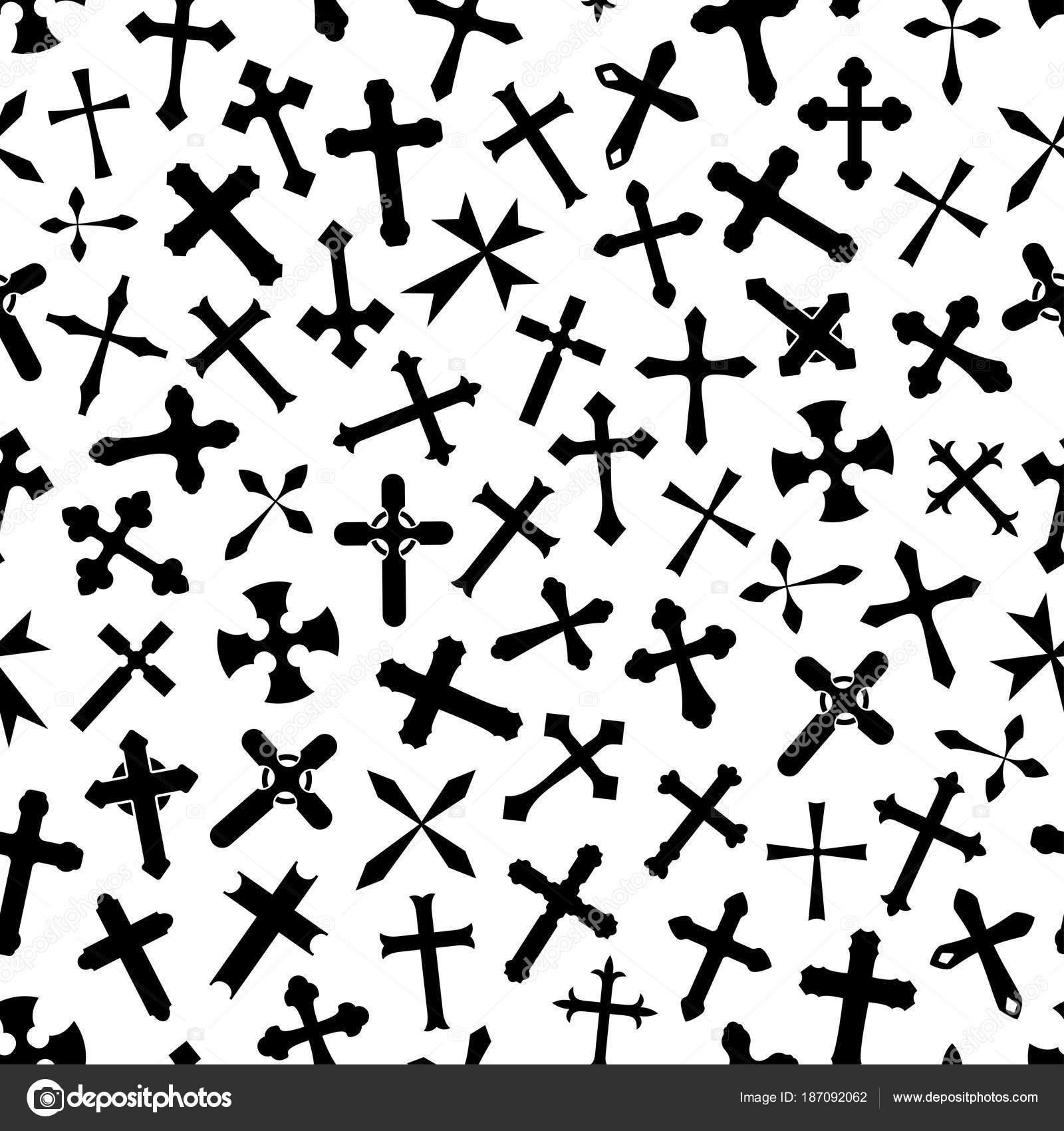 Cruz crucifijo vector patrón de fondo — Vector de stock © Seamartini ...