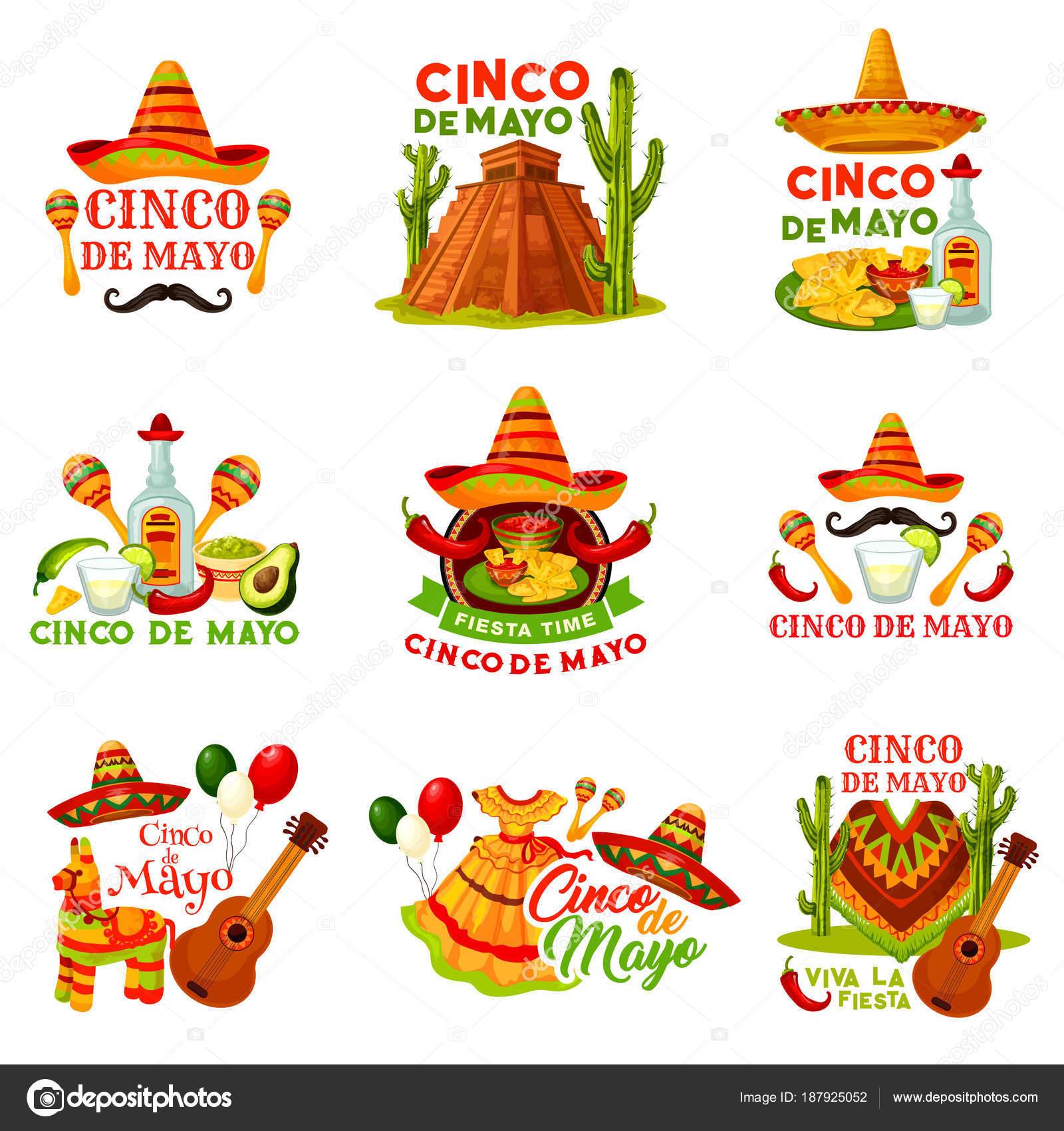 Icono de fiesta cinco de Mayo fiesta de fiesta mexicana. Sombrero sombrero  Festival 8066b2299b7