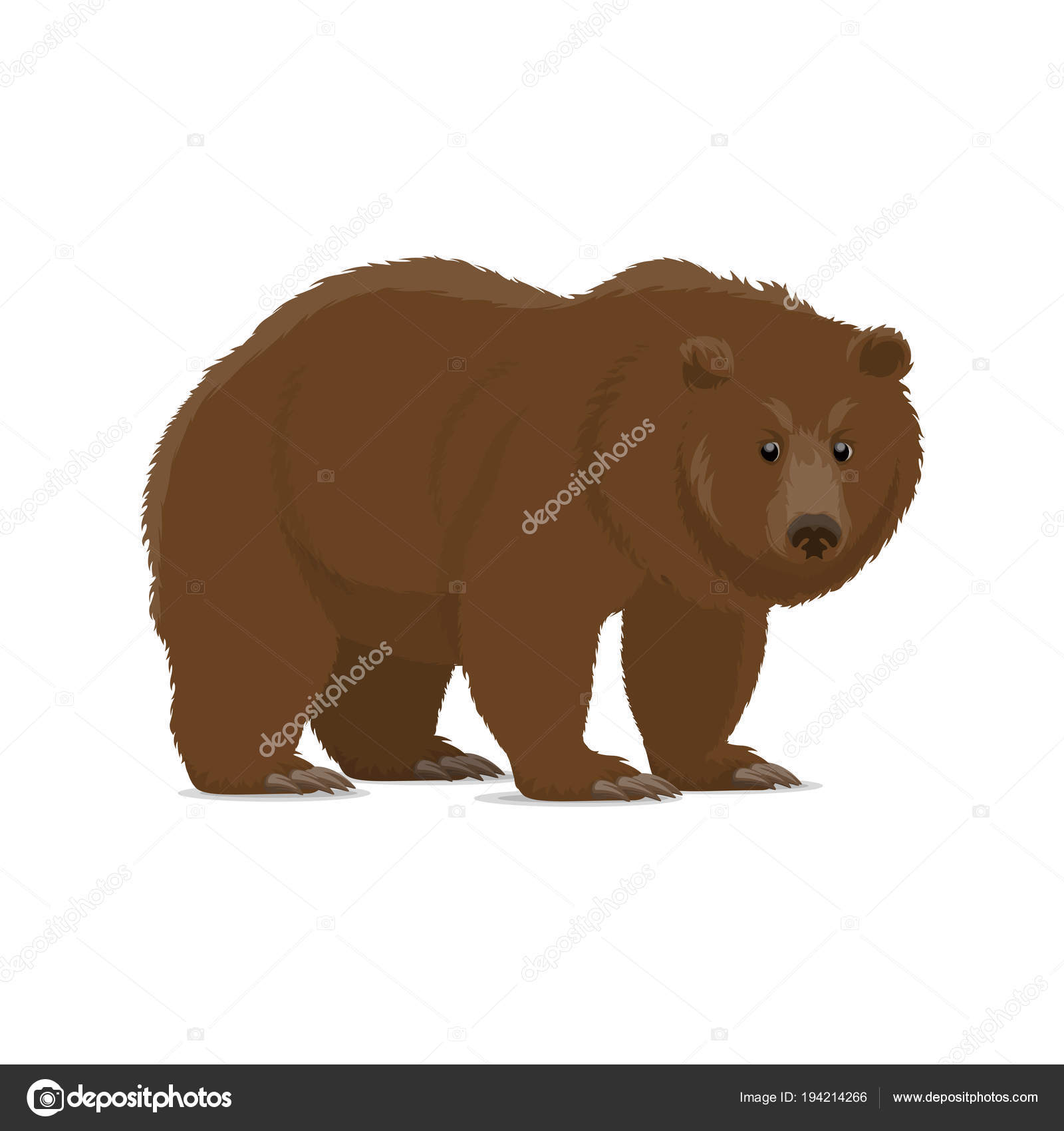 Ours Brun Ou Grizzly Icone Animal Predateur Sauvage Image