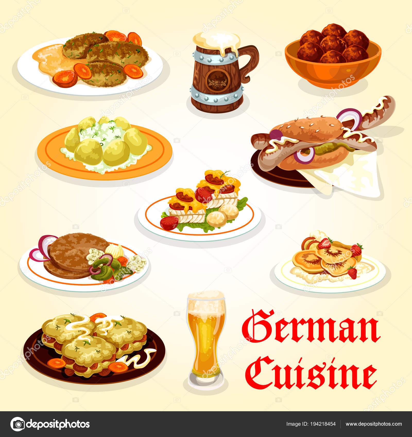 Icono de la cocina alemana de diseño del menú Oktoberfest — Archivo ...