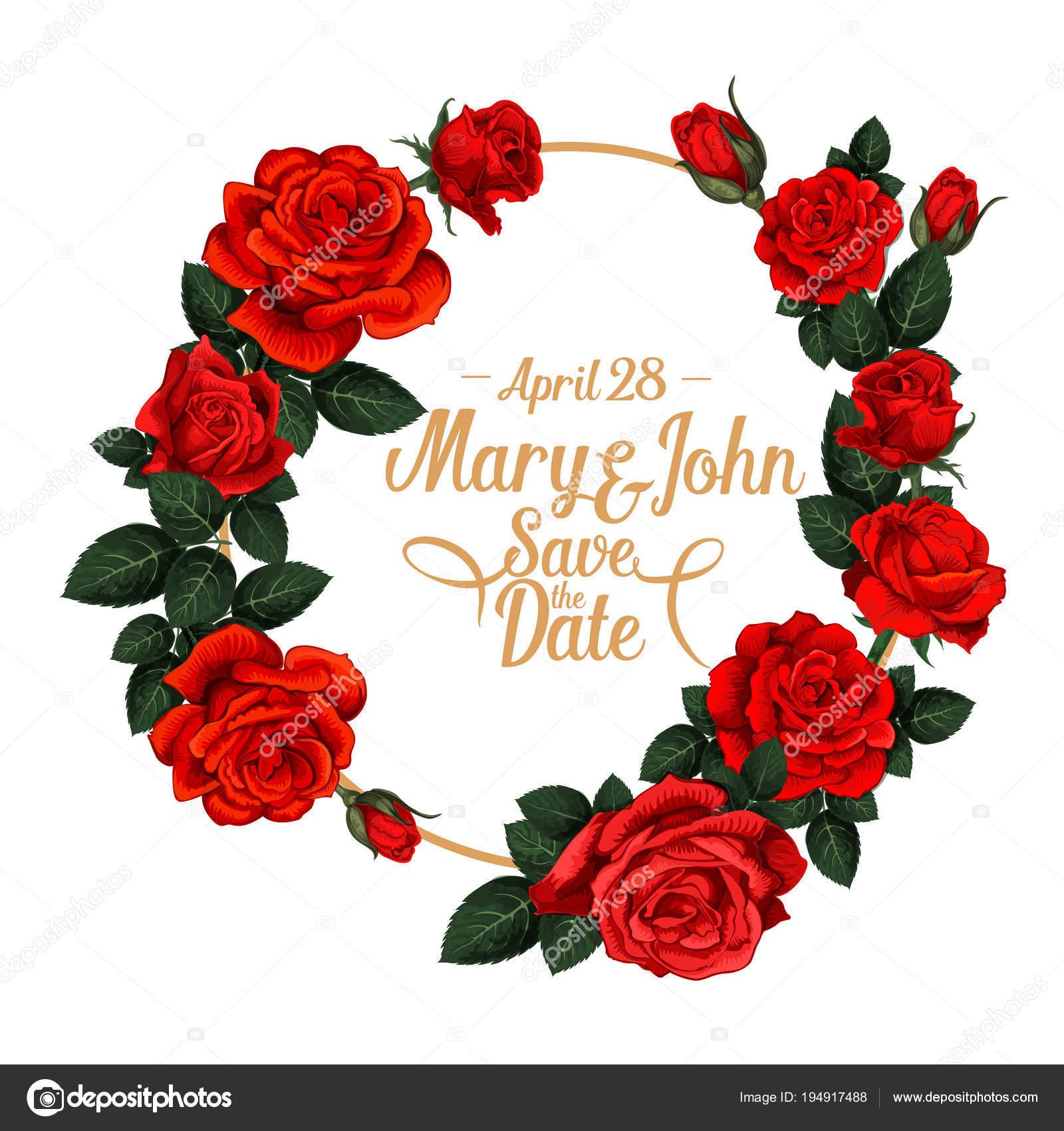 Marco de flores vector para boda guardar la fecha — Vector de stock ...