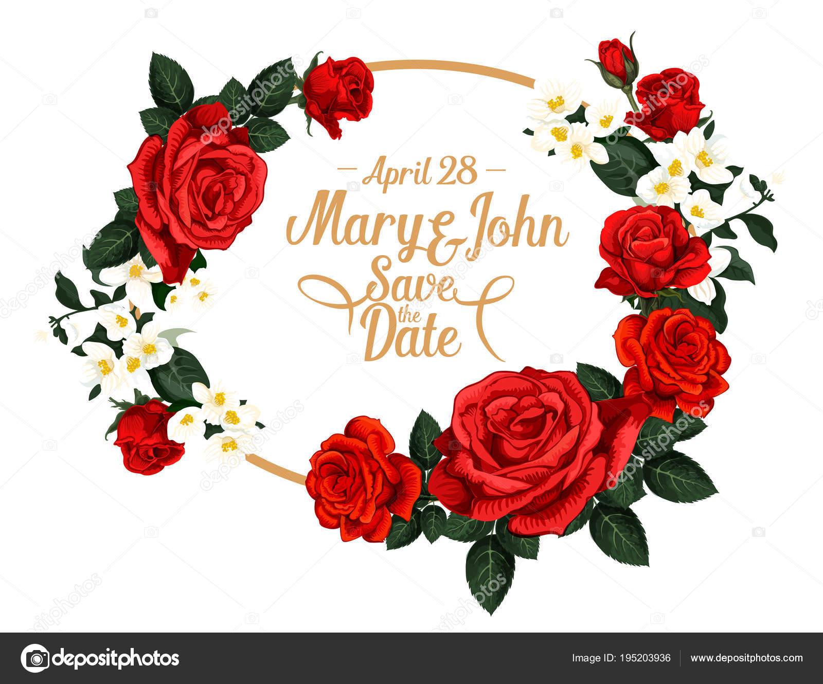 Vektor Blumen Fur Speichern Das Datum Hochzeit Design Stockvektor