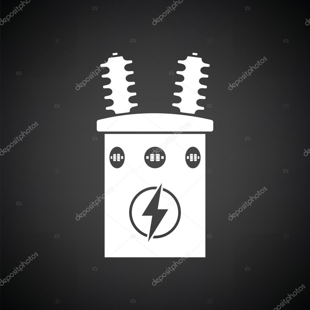 Elektro Transformator-Symbol — Stockvektor © angelp #125876192