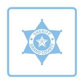 Ikona odznak šerifa