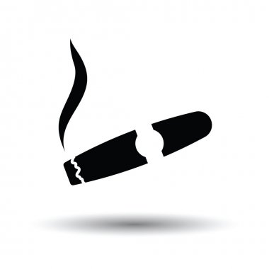Cigar icon with  shadow.
