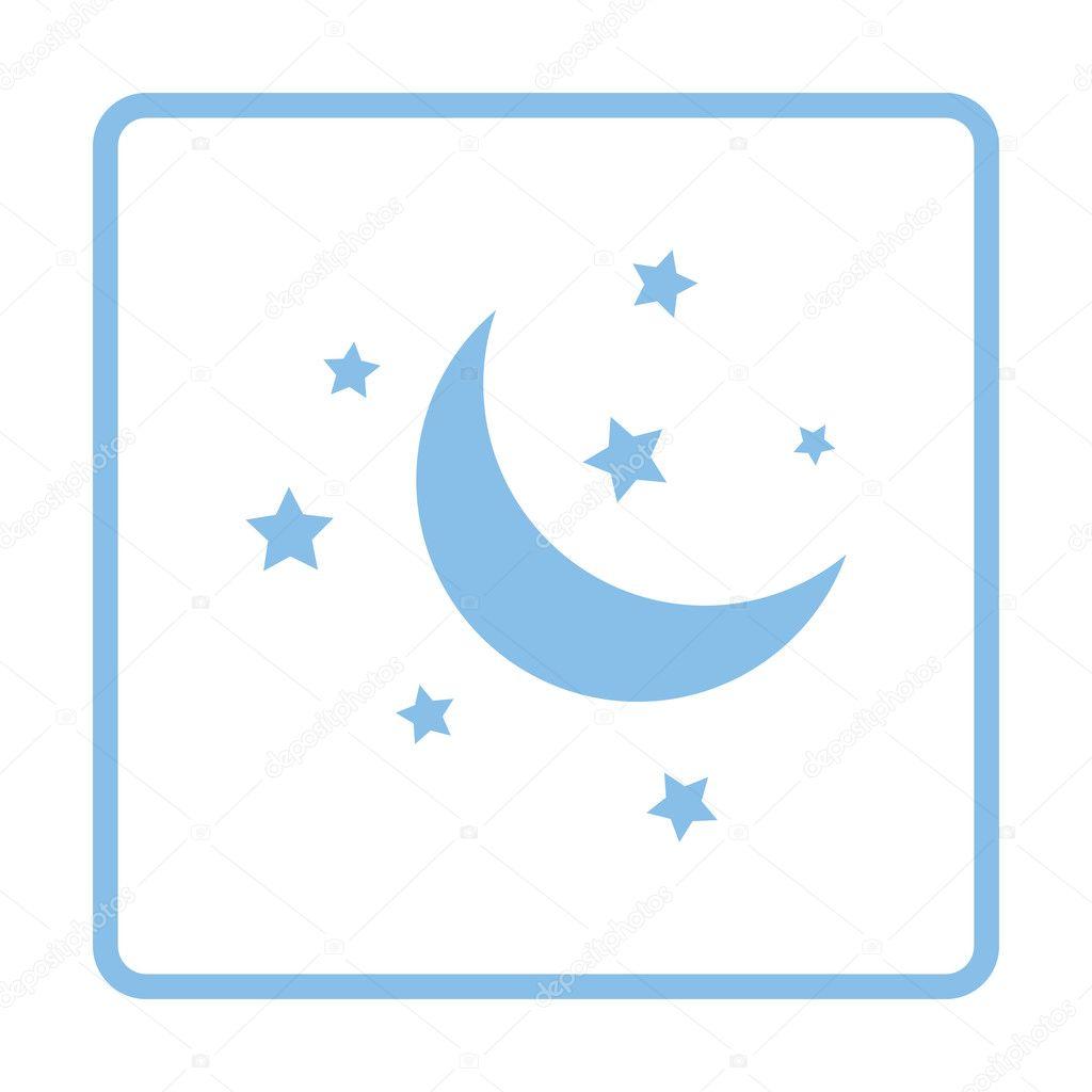 Blue night icon