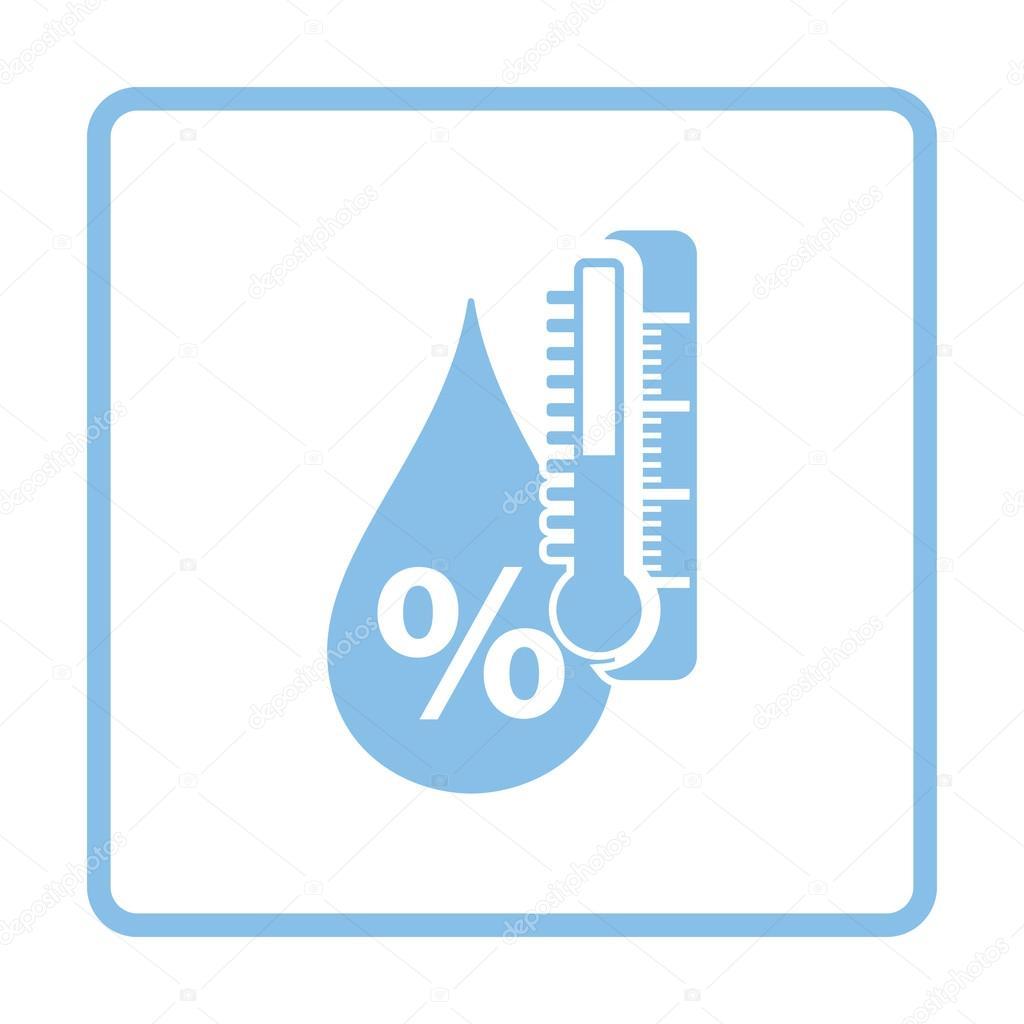 Blue humidity icon