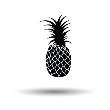 Pineapple icon with shadow design