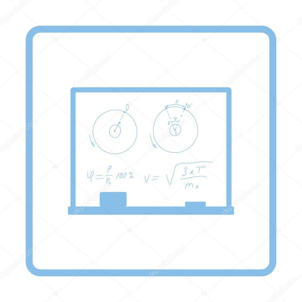Klassenzimmer-Tafel-Symbol — Stockvektor © angelp #127168406