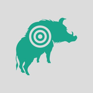 Boar silhouette with target