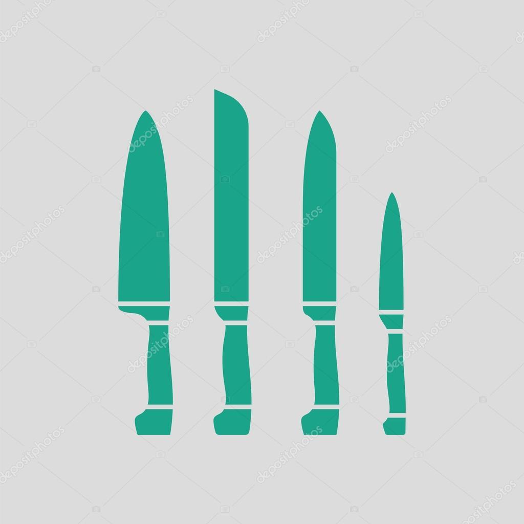 Küchenmesser set Symbol — Stockvektor © angelp #127543068