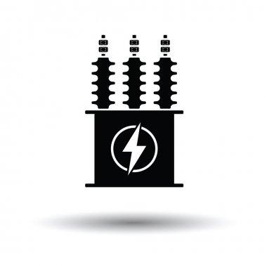 Electric transformer icon.