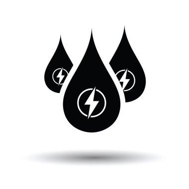 Hydro energy drops icon.