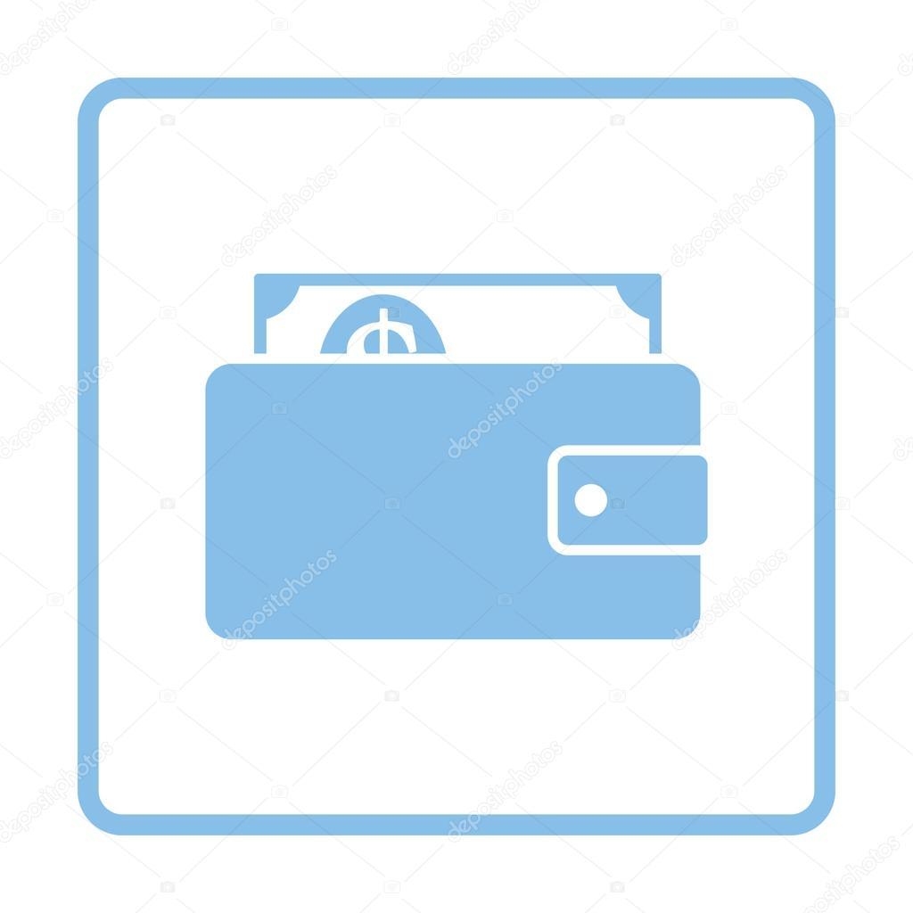 Portemonnaie mit Bargeld-Symbol — Stockvektor © angelp #128068772