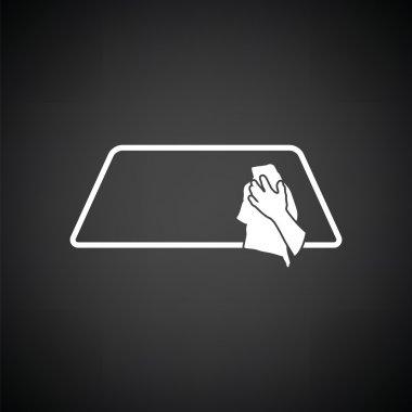 Wipe car window icon