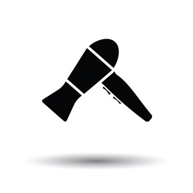 Hairdryer icon with shadow design