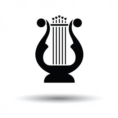 Lyre icon with shadow design