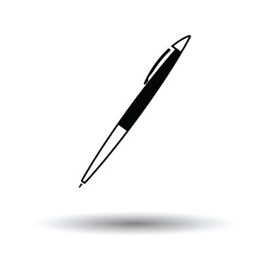 Pen icon with shadow design