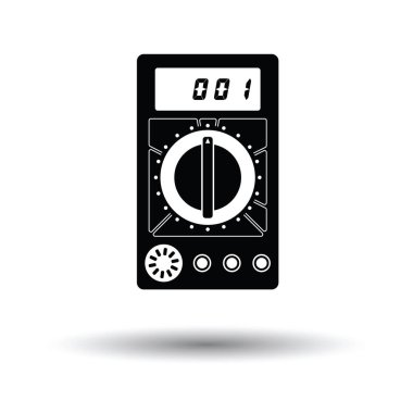 Multimeter icon with shadow design.