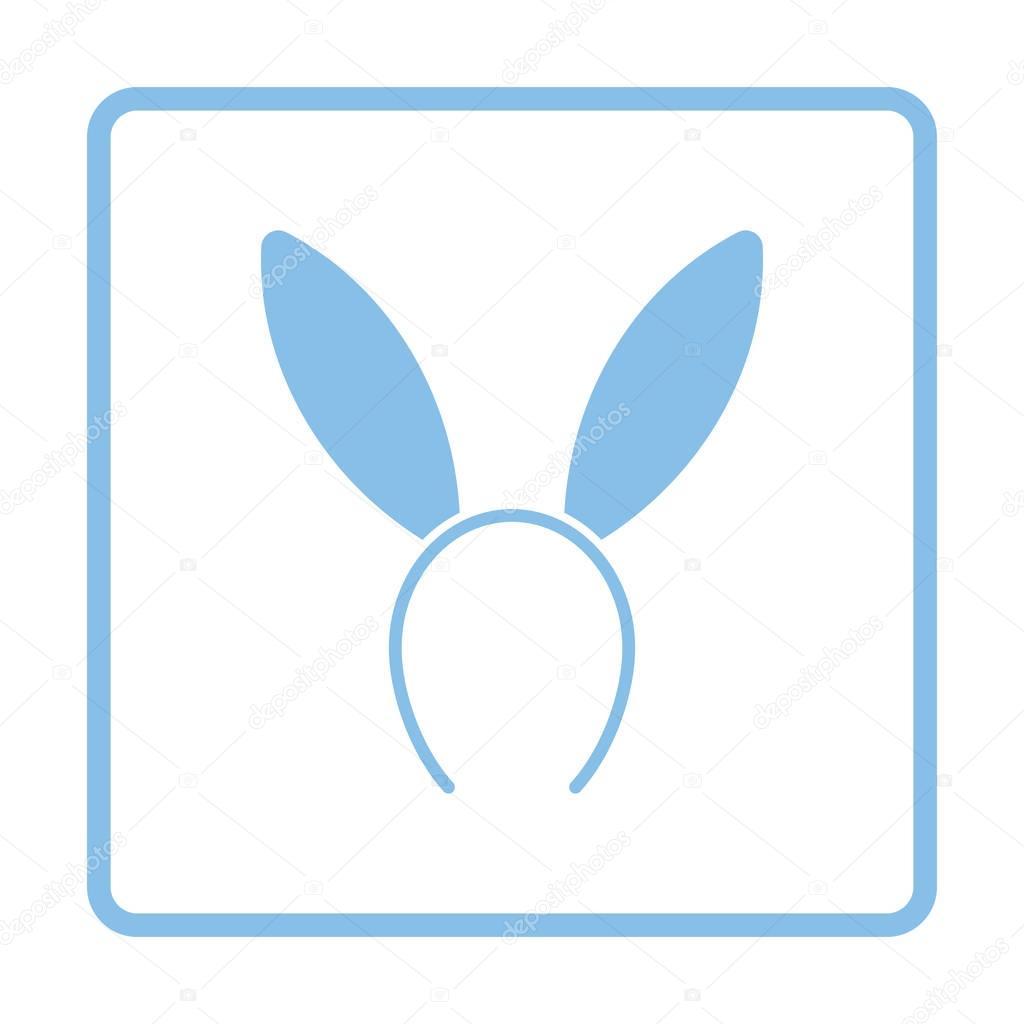 Seksi Tavşan Kulakları Simgesi Stok Vektör Angelp 129205106
