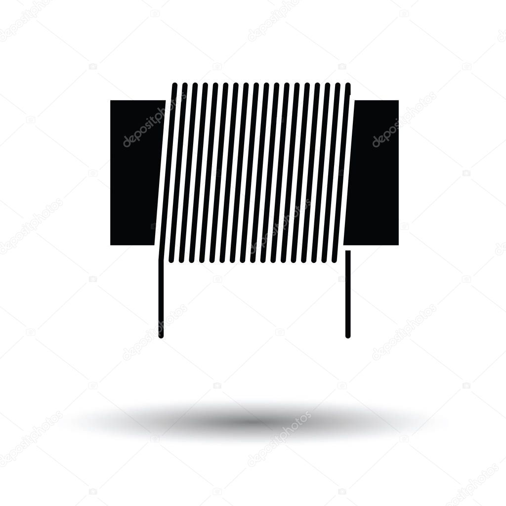 Inductor Coil Icon Stock Vector Angelp 129206052