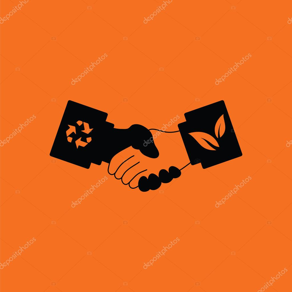 Ecological handshakes icon