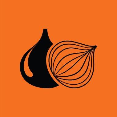 Onion icon illustration.