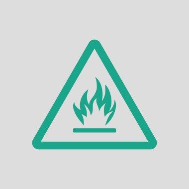 Flammable icon  illustration.