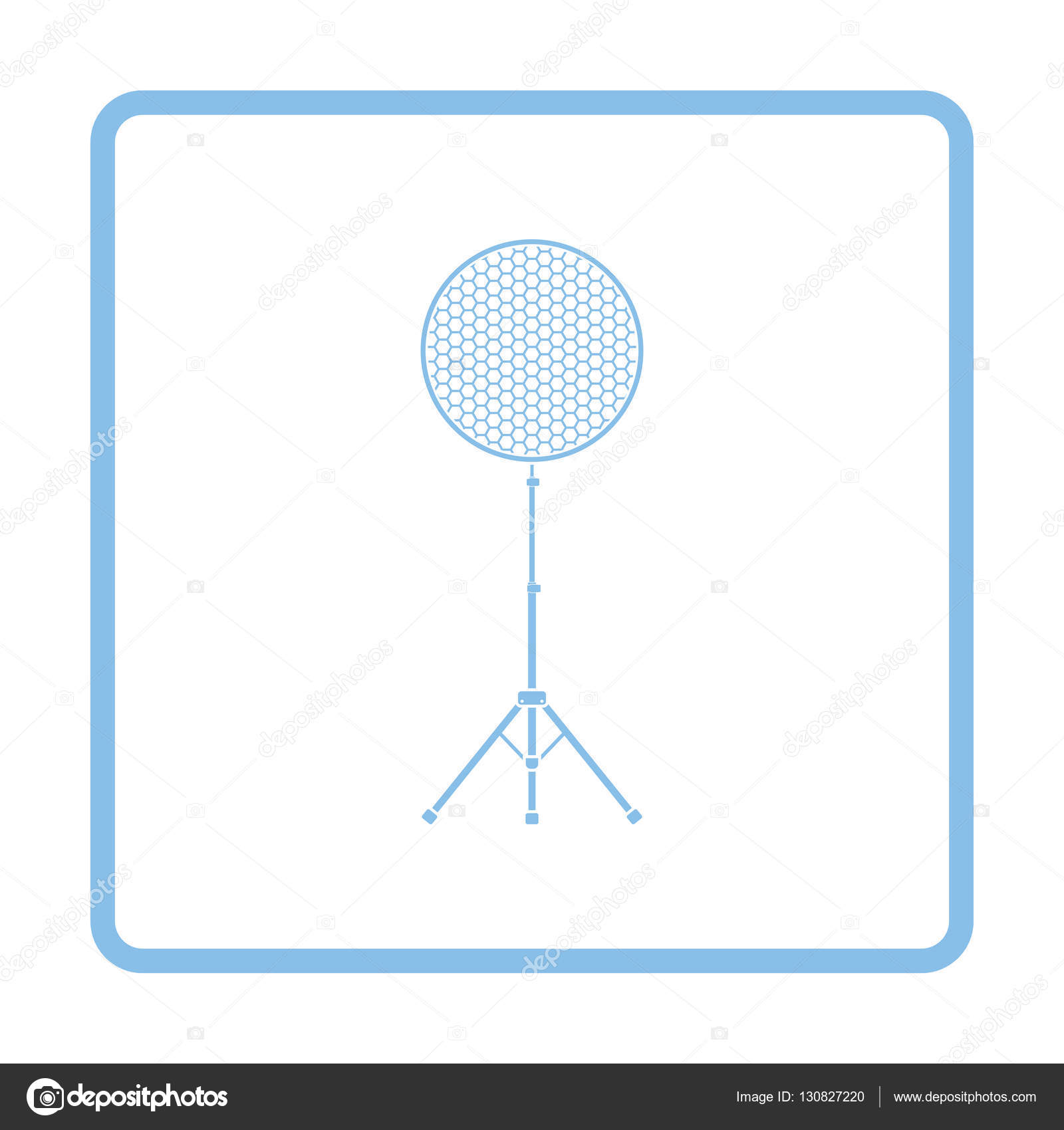 Icon Of Beauty Dish Flash Stock Vector Angelp 130827220 Lighting Diagram