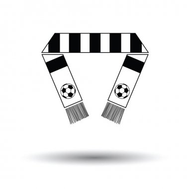 Football fans scarf icon