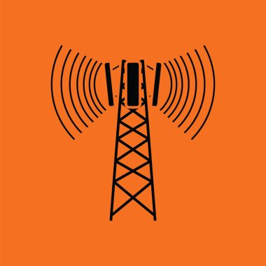 Cellular broadcasting antenna icon