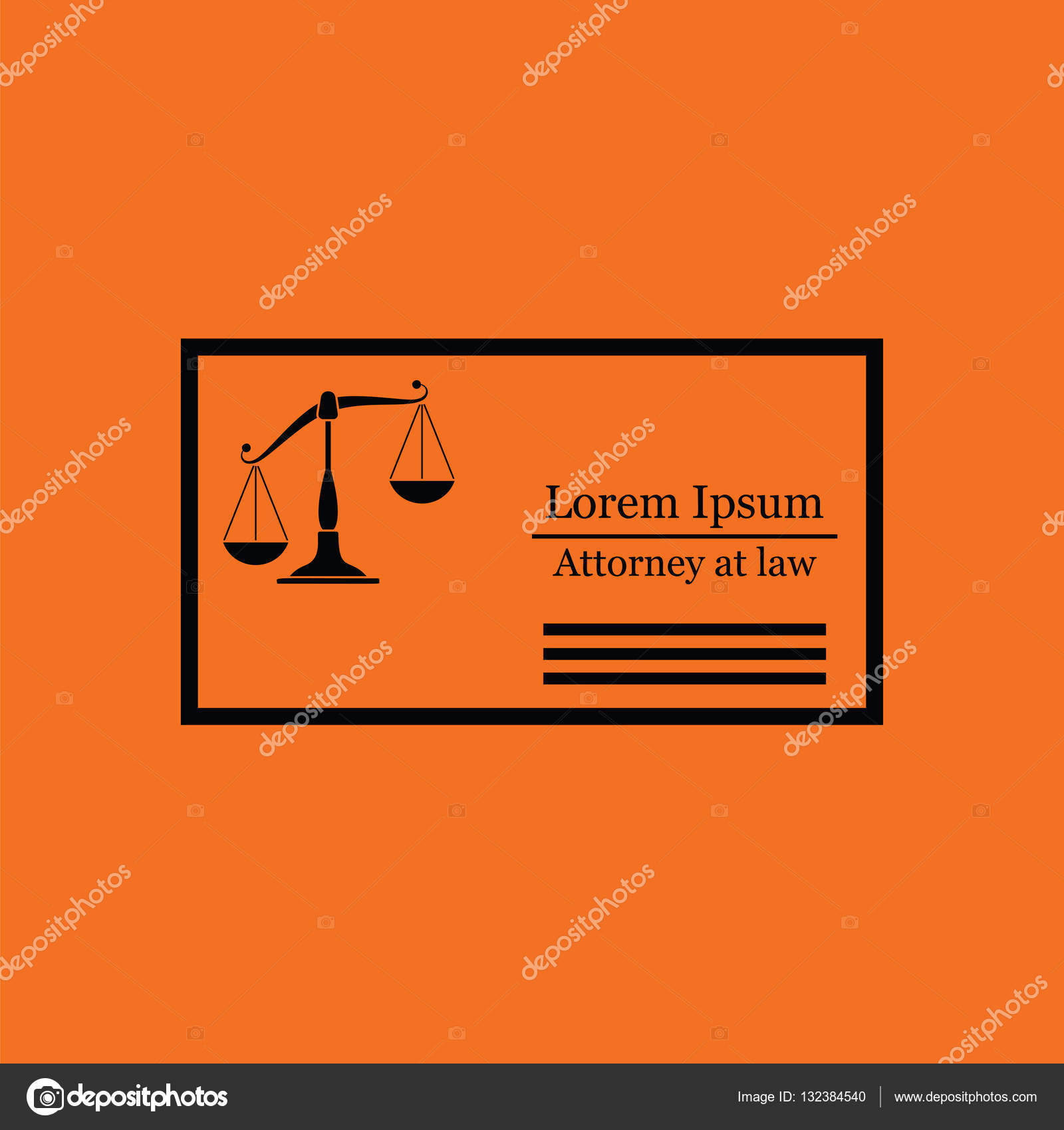 Lawyer business card icon — Stock Vector © angelp #132384540