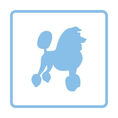 Poodle icon  illustration.
