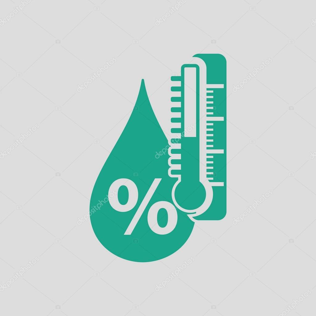 Humidity icon illustration.