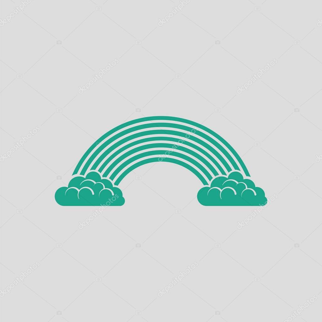 Rainbow icon illustration.