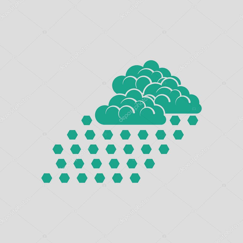 Hail icon illustration.
