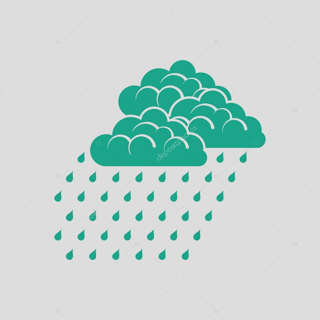 Rainfall icon illustration.