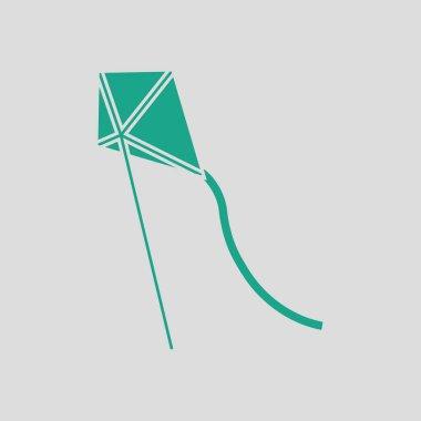 Kite in sky icon