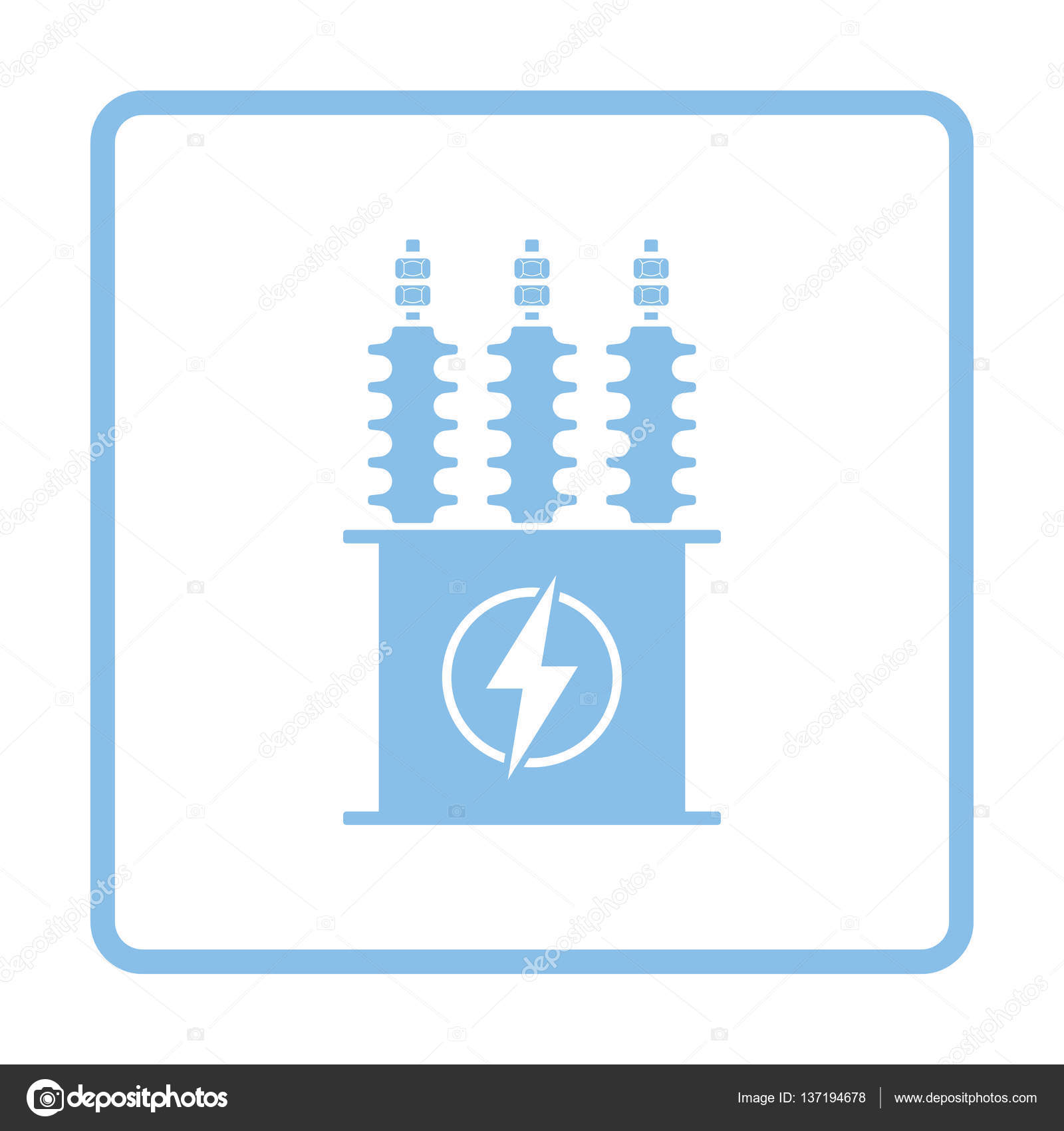 Elektro Transformator-Symbol — Stockvektor © angelp #137194678
