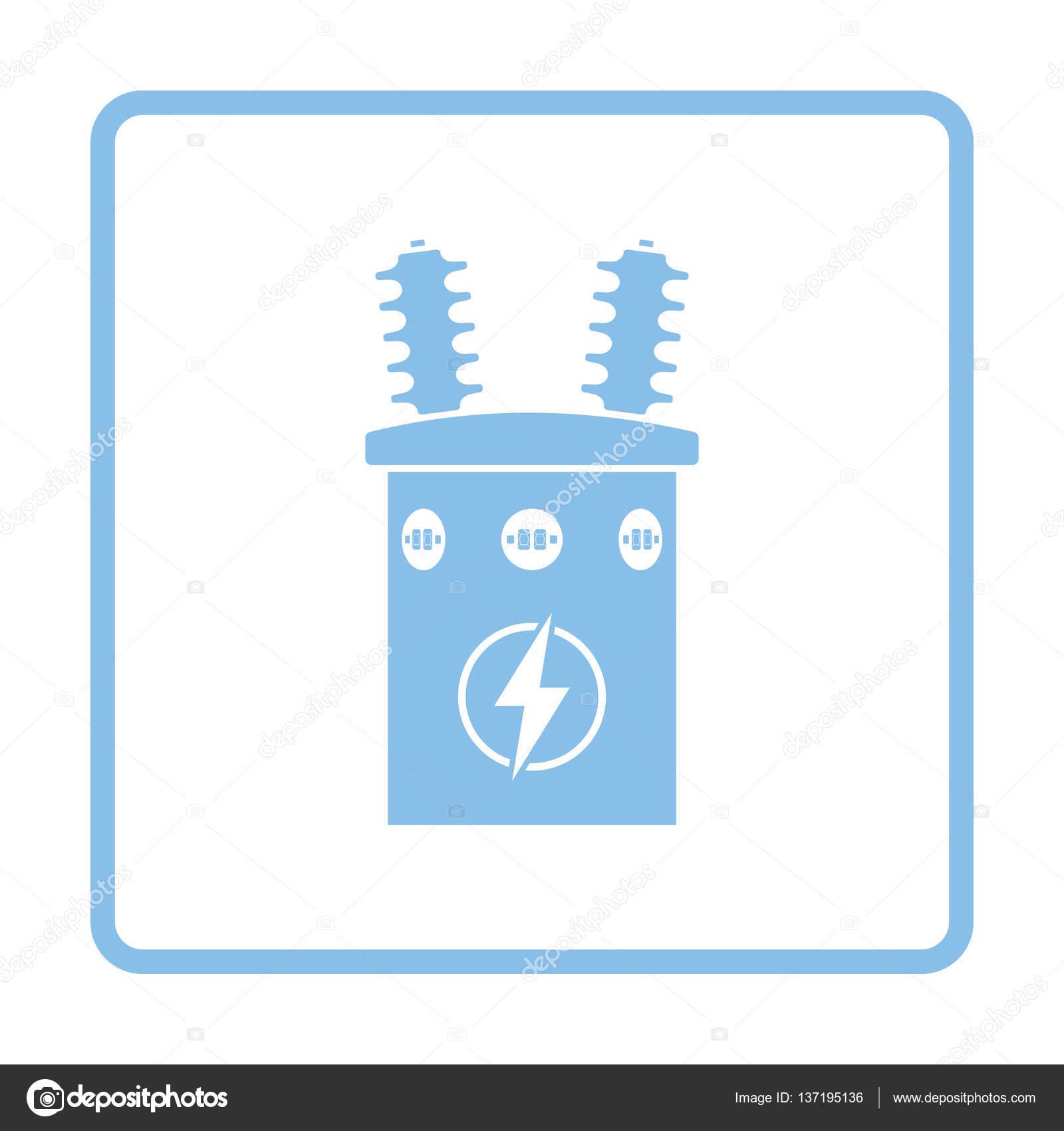 Elektro Transformator-Symbol — Stockvektor © angelp #137195136