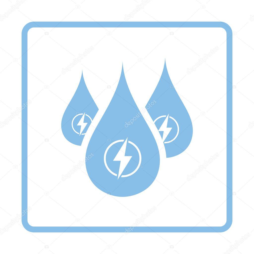 Hydro energy drops  icon