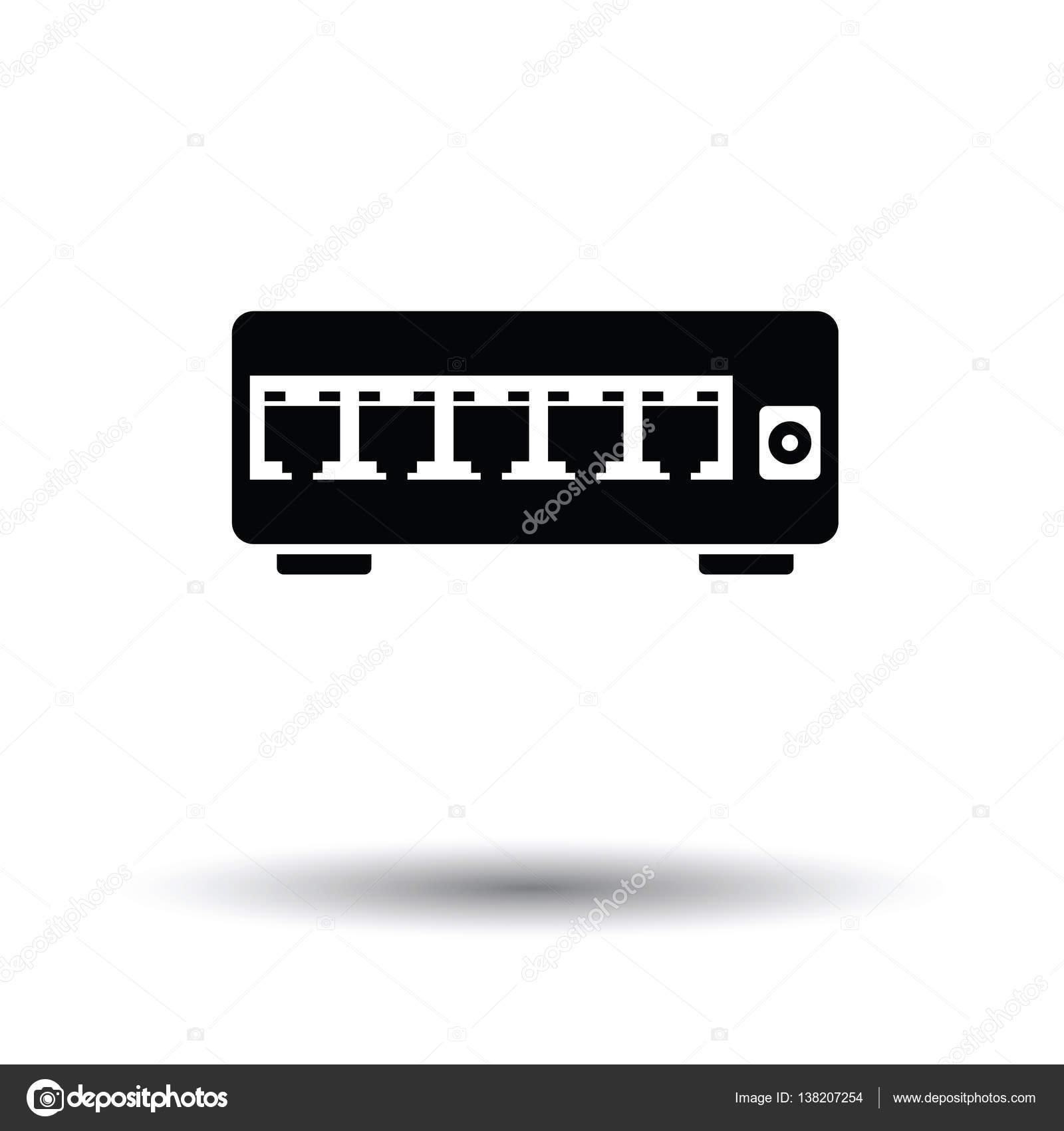 Ethernet-Schalter Symbol — Stockvektor © angelp #138207254