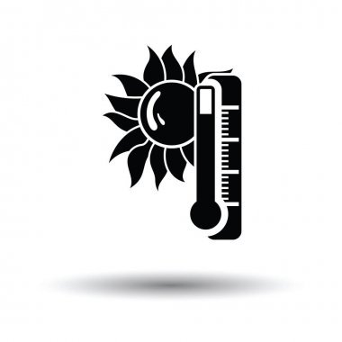 Summer heat icon. White background with shadow design. Vector illustration. clip art vector
